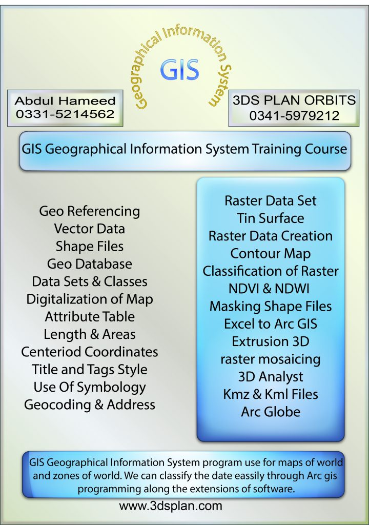 GIS Course in Rawalpindi Pakistan | 3DS PLAN ORBITS