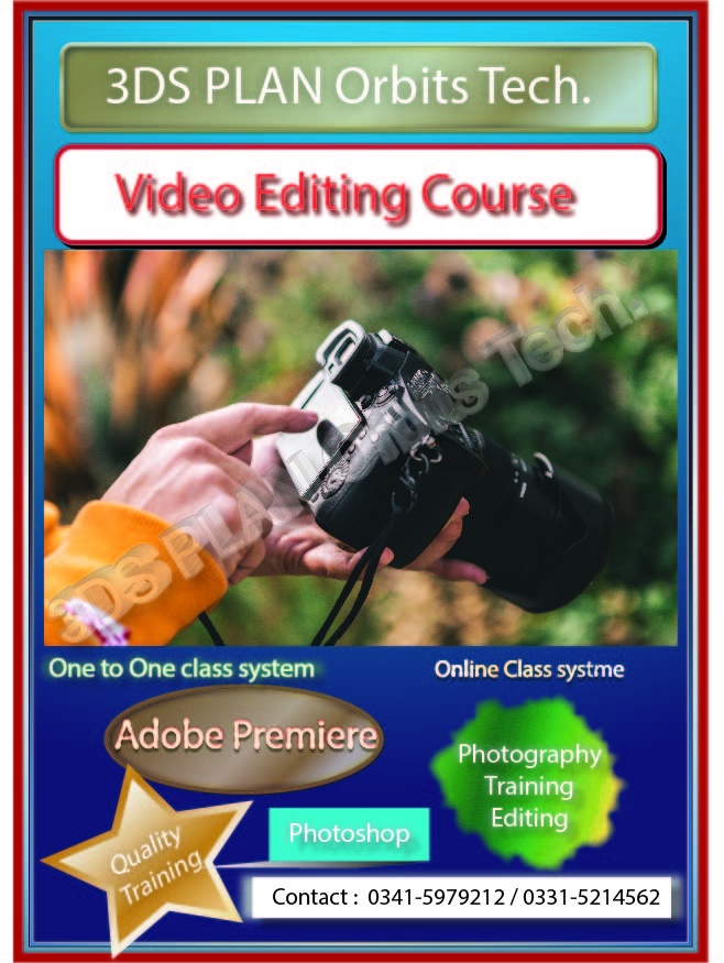 Video Editing Course in Rawalpindi Islamabad Pakistan