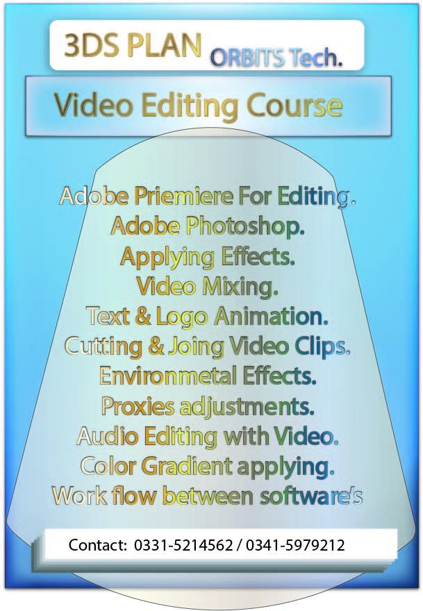 Video Editing Course in Rawalpindi Islamabad Pakistan