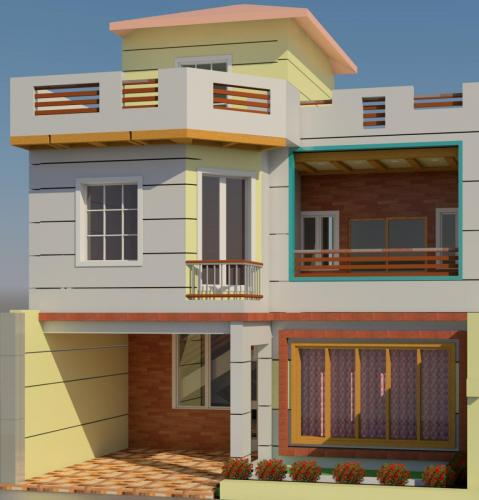 Elevation in Revit of (3dsplan.com)